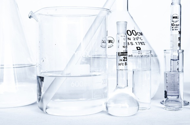Beakers that are used in a lab to test for things